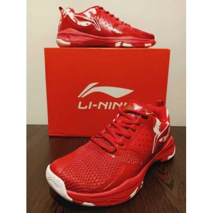 LI-NING AYTQ049-2S HALBERD TD BADMINTON TRAINING SHOES (CINNABAR RED / STANDARD WHITE)